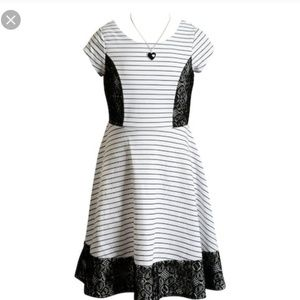 EMILY WEST Striped Skater Dress